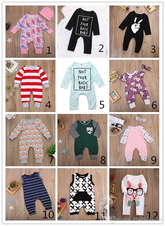 cf64c62482a 2019 12 Style Baby Romper Fall Kids Boutique Clothing Set Unisex Toddler Outfit  Infant Clothes Summer Autumn Baby Christmas Pajamas Reindeer Flor From ...