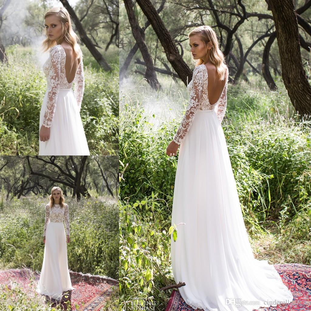 Vintage boho wedding dresses long sleeves lace 2017 ivory for Bohemian wedding dress for sale
