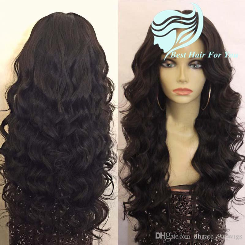 180 heavy density Glueless Lace Front Human Hair Deep Wave Wigs Brazilian Hair Full Lace Wavy Wigs For Black Women