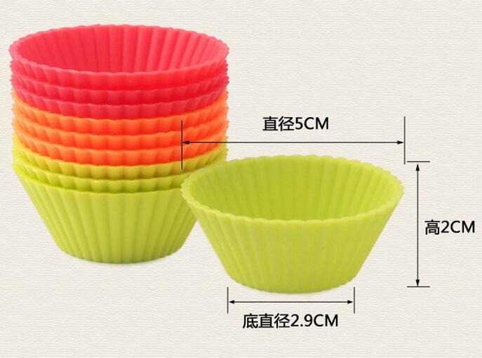New Arrive 5cm Silicone Cupcake liner Cake Chocolate Cake Muffin Liners Pudding Jelly Baking Cup Mold