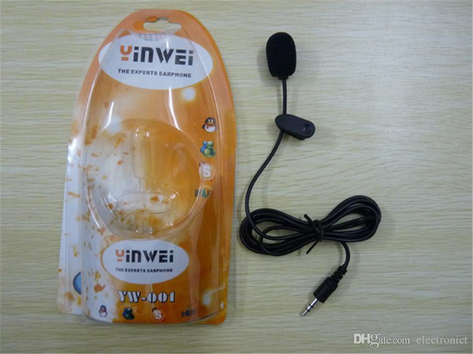 Tie Lapel Lavalier Clip Sur Microphone 30Hz ~ 15000Hz Mini 3.5mm Pour Conférences Enseignement Enregistreurs Audio Canon Nikon DSLR Camcorder