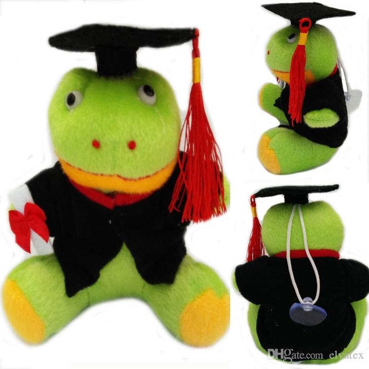 Stuffed Animals Graduation Frog 13cm Em Plush Sapo Toy With Hat and Book Formatura Doctor Frog Soft Dolls
