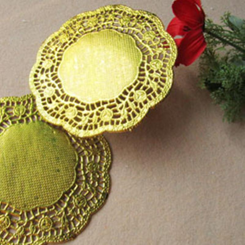 Wholesale 45 Inch Gold Round Paper Doilies Doyleys Placemat Craft