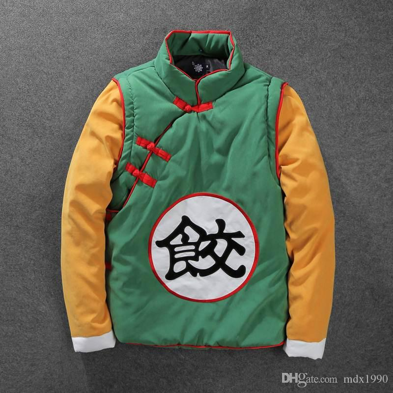 Cartoon Dragonball Jacket For Men Classic Stitching Color Baseball Jersey Jackets Winter COSPLAY Hood Coat Cotton Clothes Free Shipping
