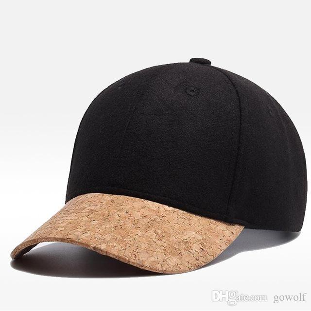 2019 Wholesale High End Designer Cork Brim Baseball Cap Snapback Hat Men  Women Handsome Wool Adjustable Hip Hop Hat Cool Leisure Cap DHL From  Gowolf 2fa20333d91
