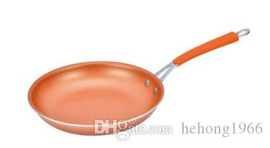 Metal Long Handle Frying Pans Flat Bottomed Aluminum Gotham Steel Copper Pot With Ceramic Coating Non Stick Skillet Eco Friendly 31 5dj