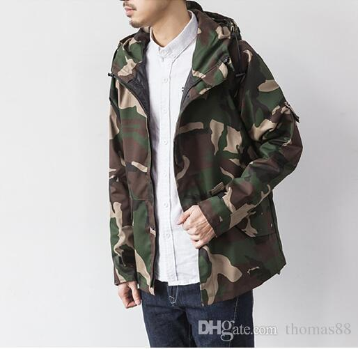Fall Brand Harajuku Skateboard Sport Camouflage Outdoor Jackets Men Causal Hooded Camping Coat Fashion Camo Mens Clothes Lightweight Jacket Team