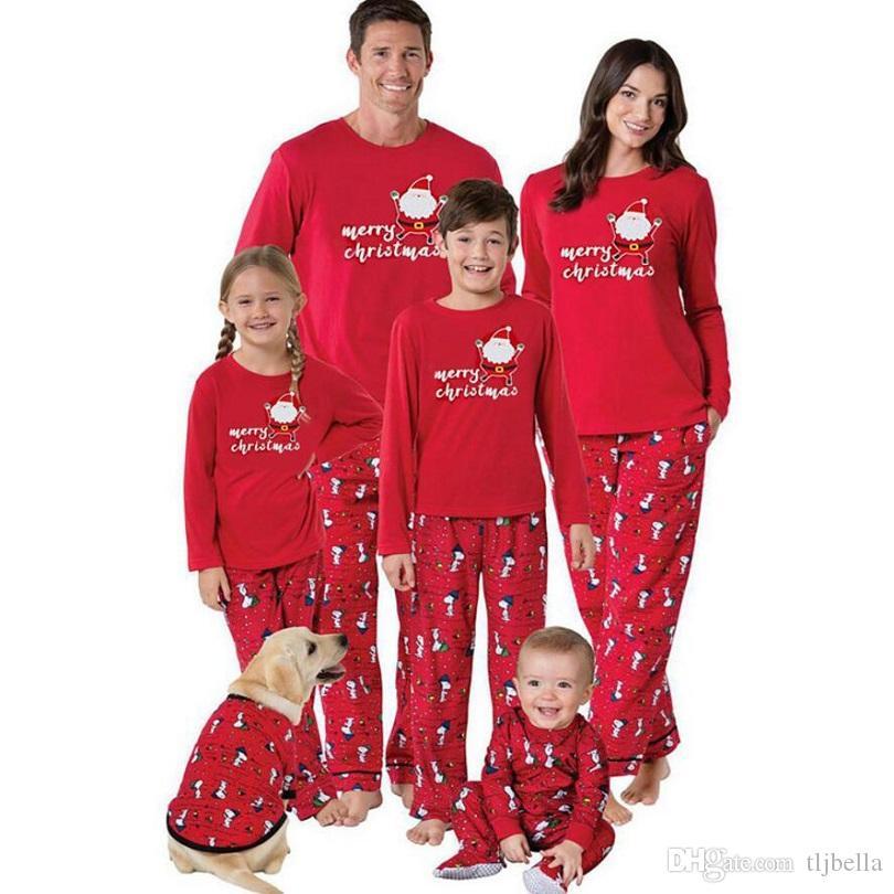 2017 Family Matching Christmas Pajamas PJs Sets Kids Adult Xmas ... 79036fd5a