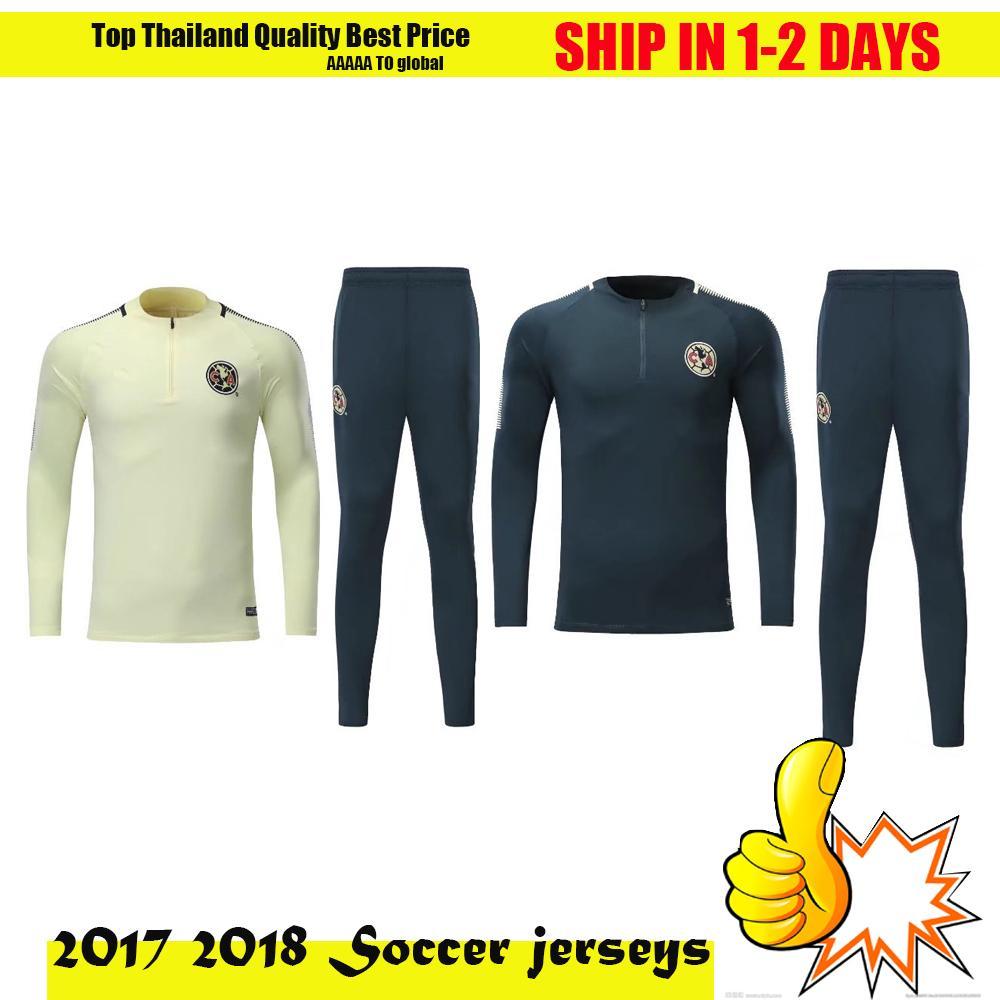 Extrêmement 2018 2017 2018 Club America Chivas De Guadalajara Training Suits  HI72