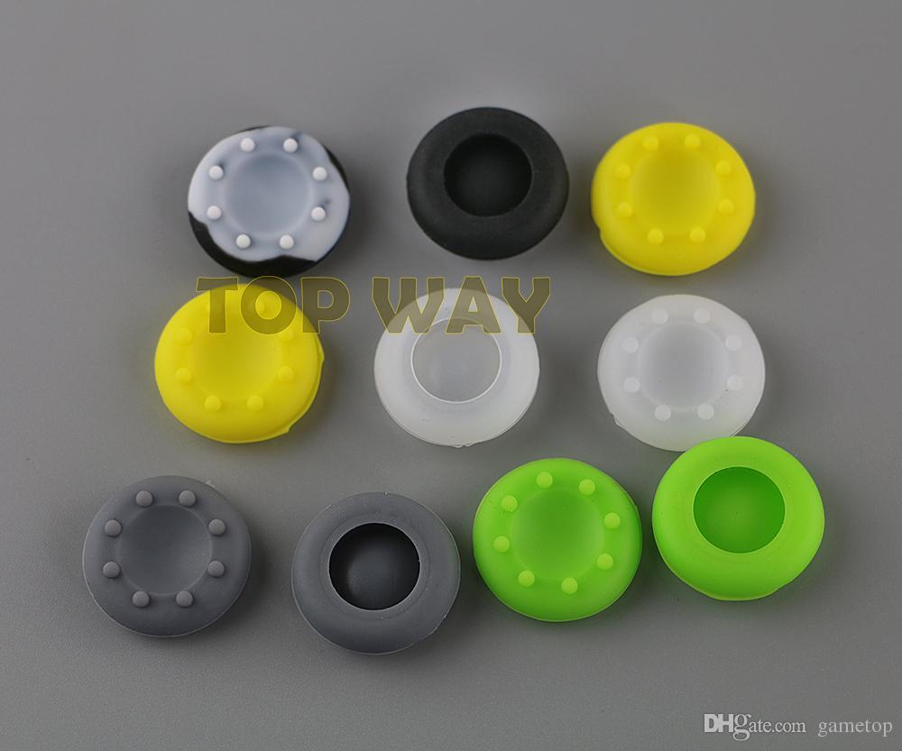 متعدد الألوان سيليكون التناظرية تحكم الإبهام عصا القبضات قبعات يغطي ل Xbox360 / Xbox One / PS3 / PS4 المراقب المالي
