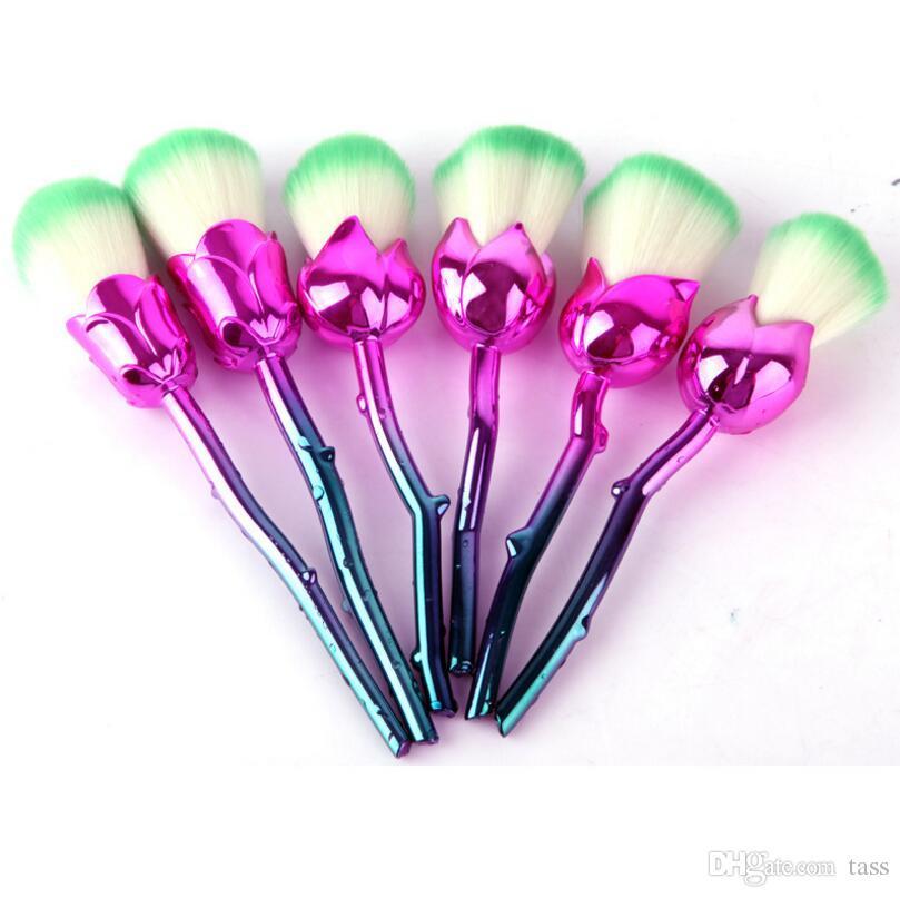 9 Styles Rose Flower Makeup Brushes Set Synthetic Hair Professional Foundation Cosmetic Brush Make Up Brushes Set