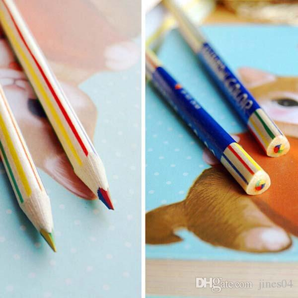 4 in Pencil Colouring Pencils Rainbow Pencils Drawing Painting Pen Stationery School Office Supplies