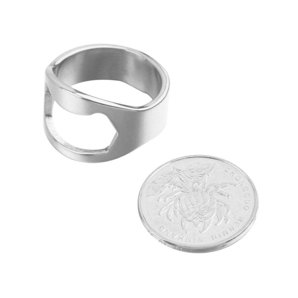 Popular Unique Creative Versatile Stainless Steel Finger Ring Ring-Shape Rings Beer Bottle Opener