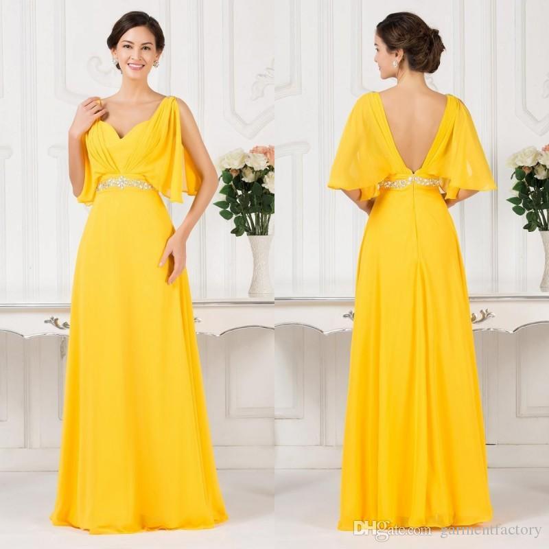 Großhandel Fancy Schmetterling Stil Top Abendkleider Gelben Schatz ...
