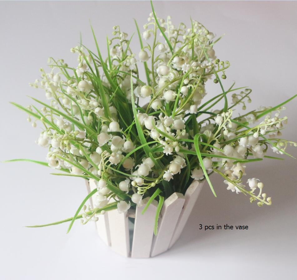 Lily Of The Valley Wedding Flowers: 2019 Artificial Lily Of The Valley Spray Fake Belletrists