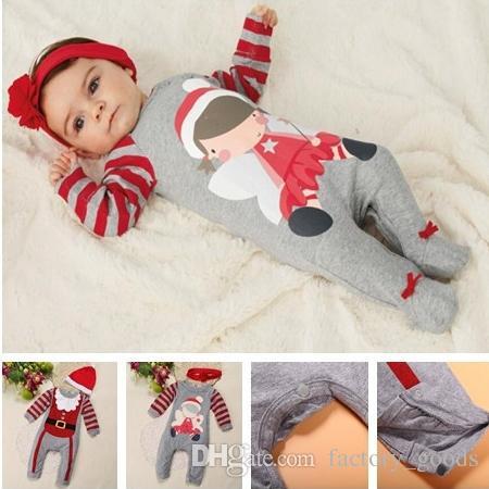 37700ea48d51 Baby Christmas Clothes Santa Suits Boys Girls Jumpsuits Bodysuit ...