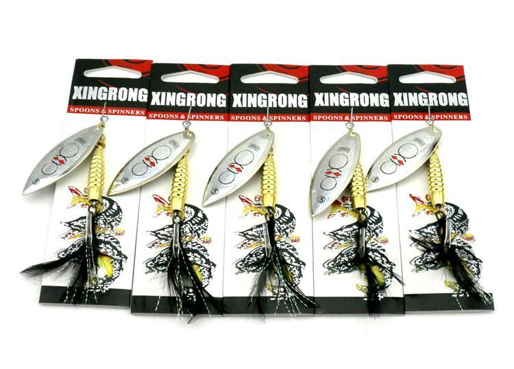 NUEVO juego grande de pesca de agua salada Spinner Metal Jigs cebo 8.7 cm 17.5 g Pesca con mosca VIB cuchillas Spinnerbaits Bass Fishing