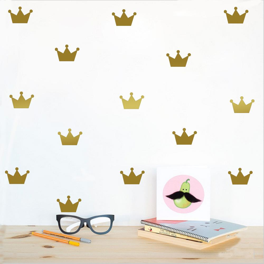Gold crown princess wall sticker for girls bedroom removable home gold crown princess wall sticker for girls bedroom removable home decoration art wall decals diy waterproof vinyl paster gold and silver removable wall amipublicfo Image collections