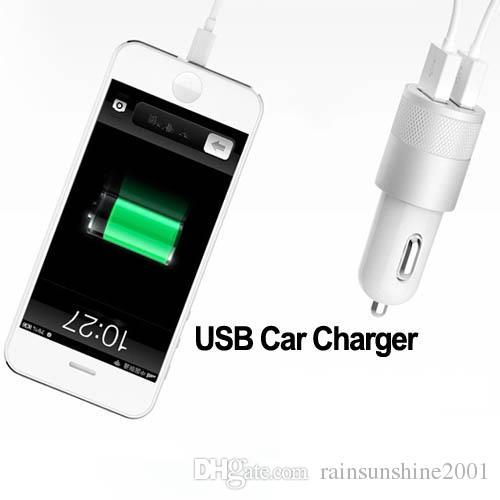 Metall-Dual-USB-Autoladegerät LED zeigen an, Autoadapter für iPhone 7 7plus 6 6plus Samsung HTC zu leuchten