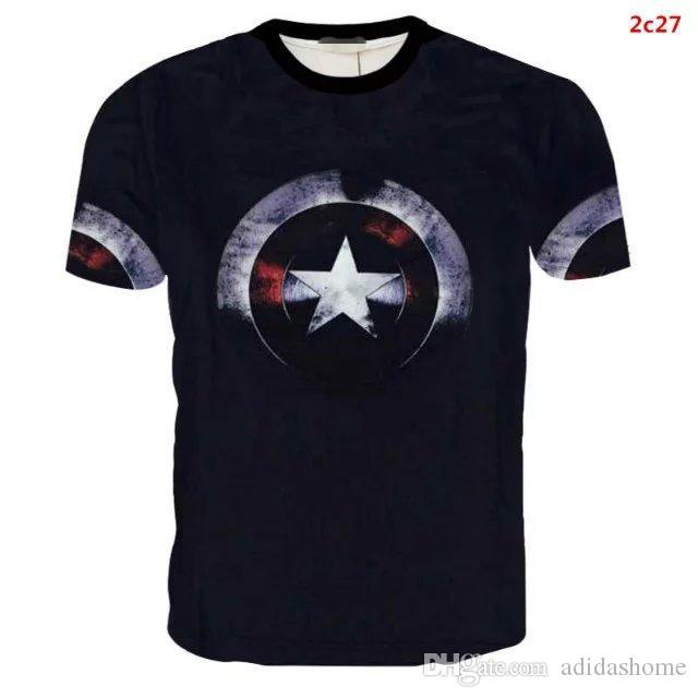 Mens Superhero T-shirt Jersey Compression Marvel Gym Short Sleeve Tops Spiderman