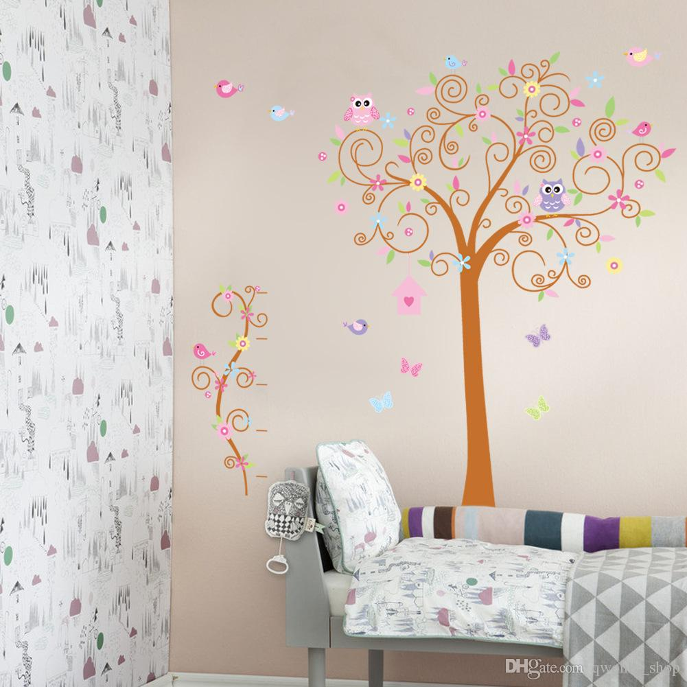 8 Styles Fashion Cute Monkeys Playing On Trees Wall Stickers For Kids Rooms Decorative Removable PVC Wall Decal DIY XL Large