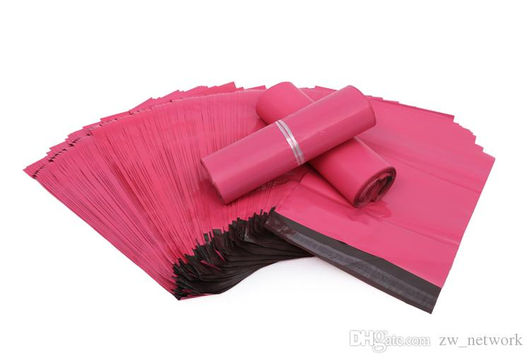 / 핑크 폴 리 메일러 10 * 13 인치 익스프레스 가방 25 * 35cm 메일 봉투 봉투 / 셀프 접착 인감 플라스틱 가방 파우치