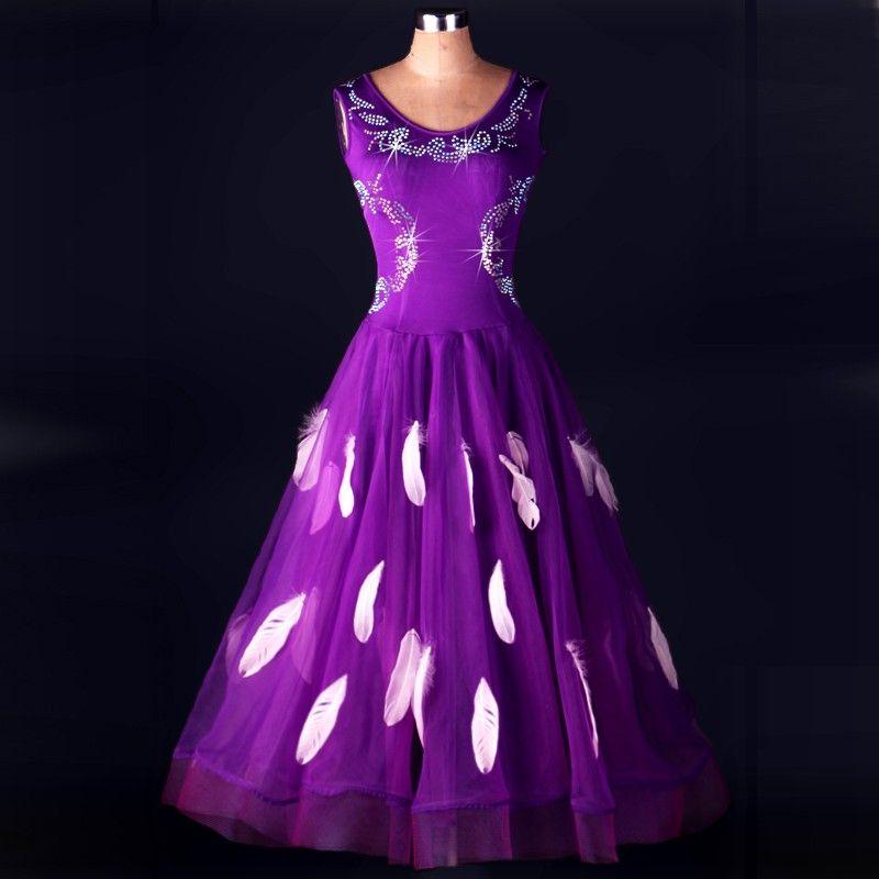 2018 Ballroom Dance Compétition Robes Robe Format De Robe De Bal Standard Robes De Festas Lulu Danse Concours De Danse