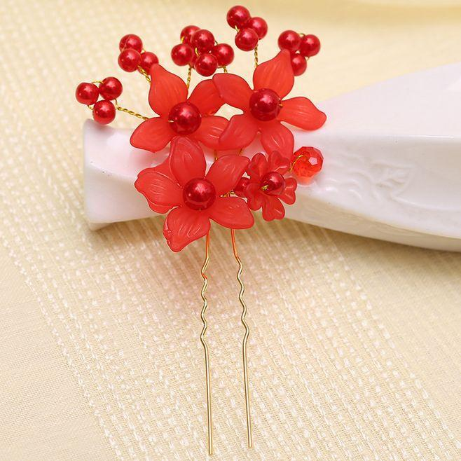 Flower Pearl Hairpins Bridal Wedding Hair Accessories Women Pearl Hair Pins Hairclip Women Bridesmaid Hair Jewelry