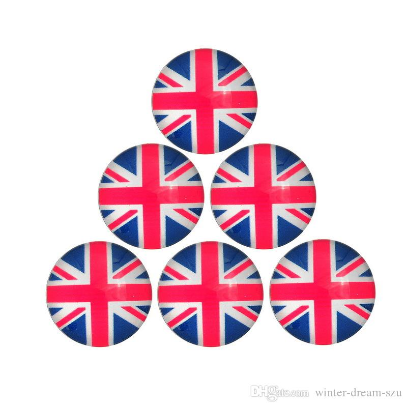 50pcs/lot Mix 3 styles 18mm USA British Germany National Flag Design Metal Snap Button Charm Button Jewelry E563L