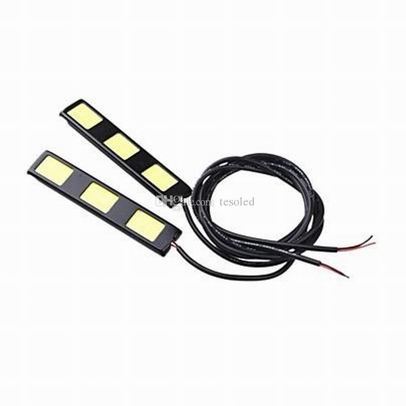 9 W / set DC12V branco 3COB * 2 led luzes diurnas branco frio luzes de nevoeiro ou luz reversa E4 à prova d 'água 2 pares JTCL059-ly