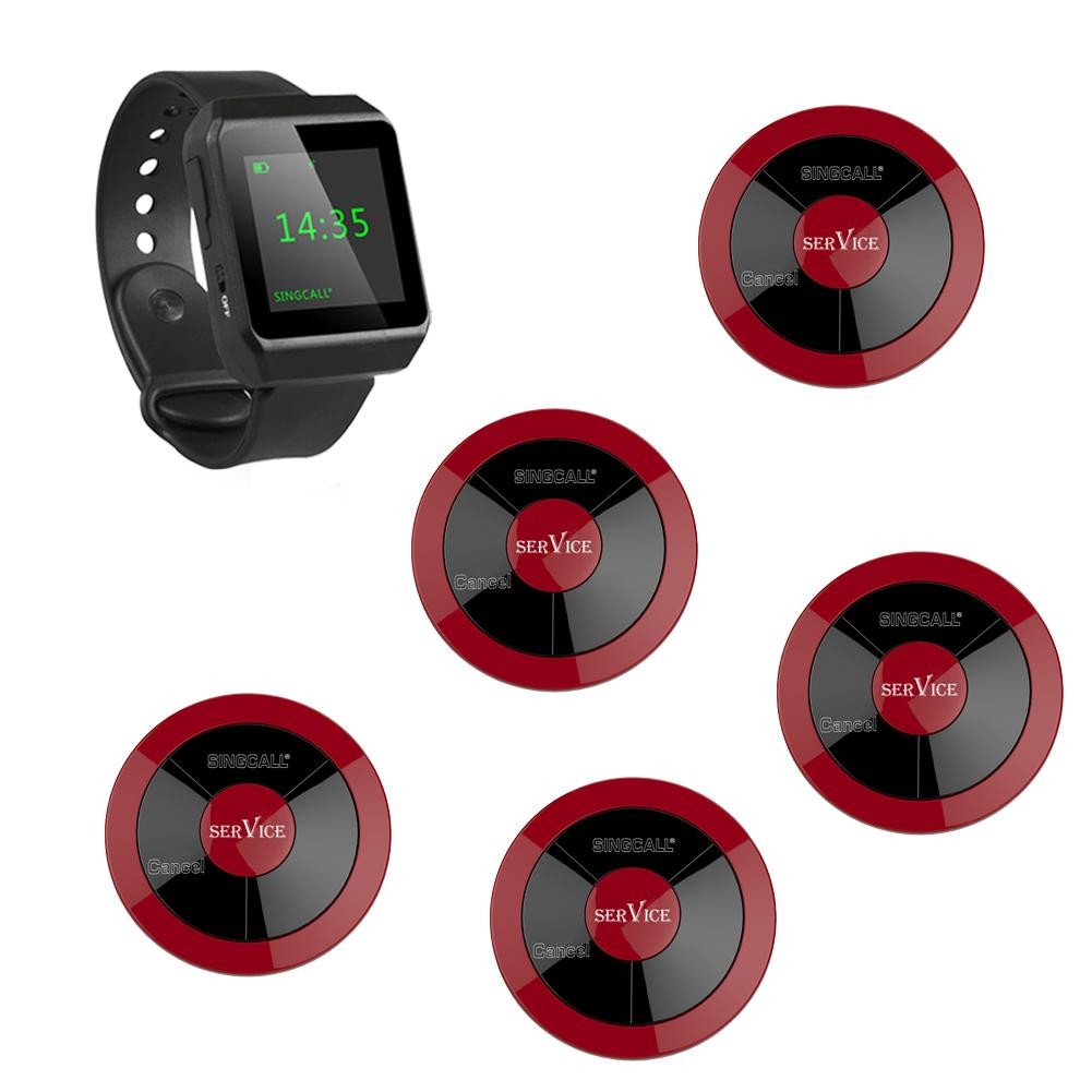 2017 singcall serving system 5 multi key pagers plus 1 wrist watch
