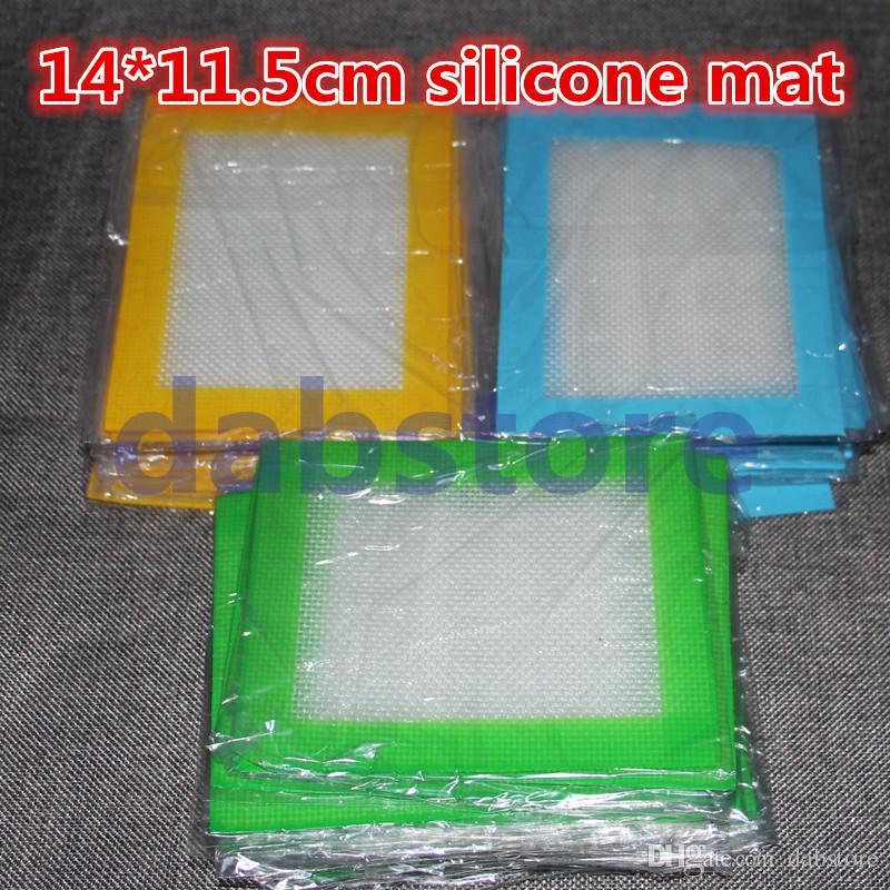 Tampons de cire de silicone en gros tapis d'herbes sèches 14cm * 11.5cm tapis de cuisson carré dabber feuilles bocaux outil pour le conteneur de silicium DHL