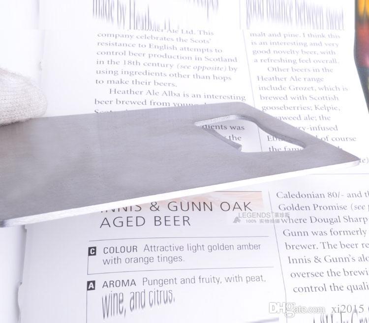 Abridor de garrafas de tamanho personalizado cartão de crédito personalizado logotipo da empresa gravado / impresso Metal cartão abridor de garrafas
