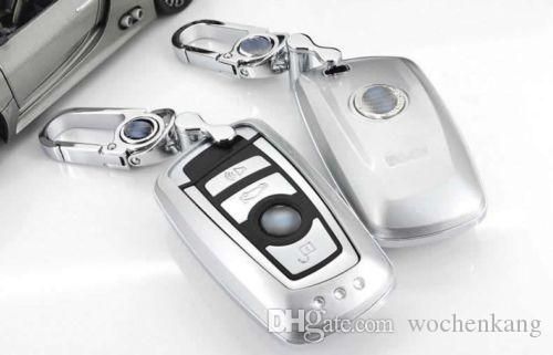 ABS plastik metal araba anahtarı durum için bmw F10 F20 F30 YENI 1 2 3 4 5 6 7 serisi 116I 120I 320I 328I 530I X1 X3 X4 118I