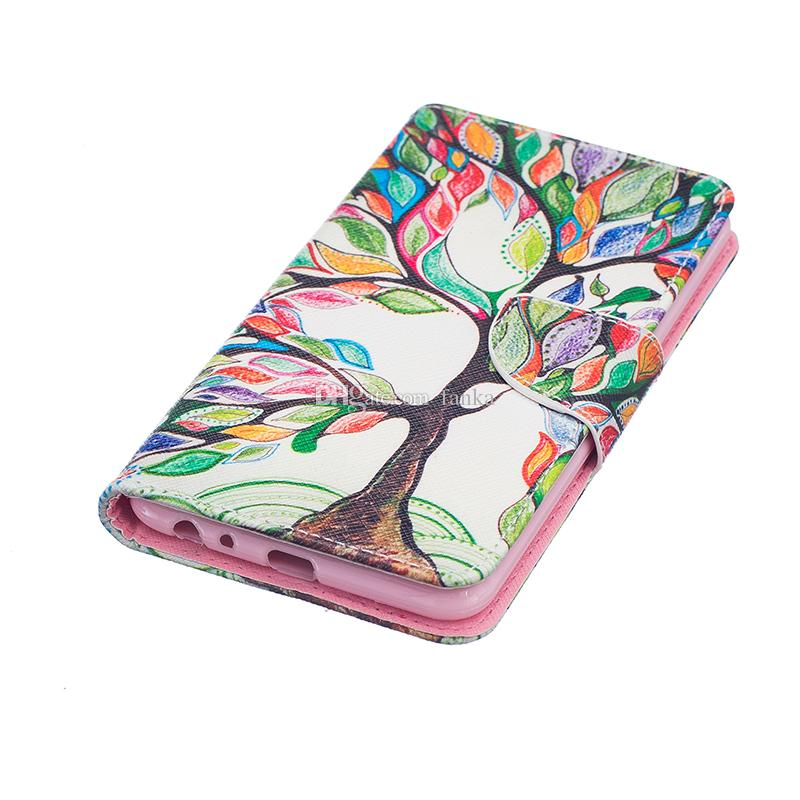 2016 New Arrival Leather Case For LG Stylus2/LS775 LEON LS770 NEXUS 5X MOTOG4 Flip Wallet Case Shockproof Case Rainbow Tree