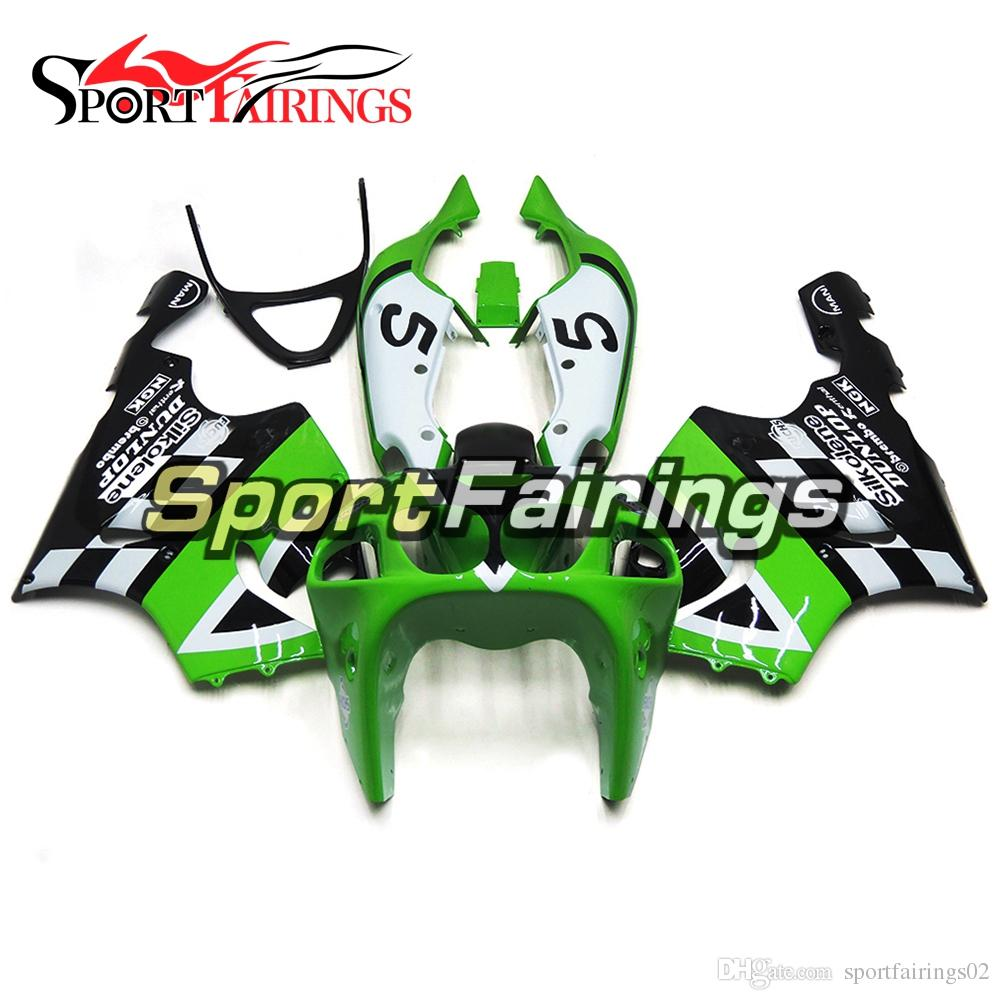 Fairings For Kawasaki Zx7r 1996 2003 Abs Plastic White Green 5 ...