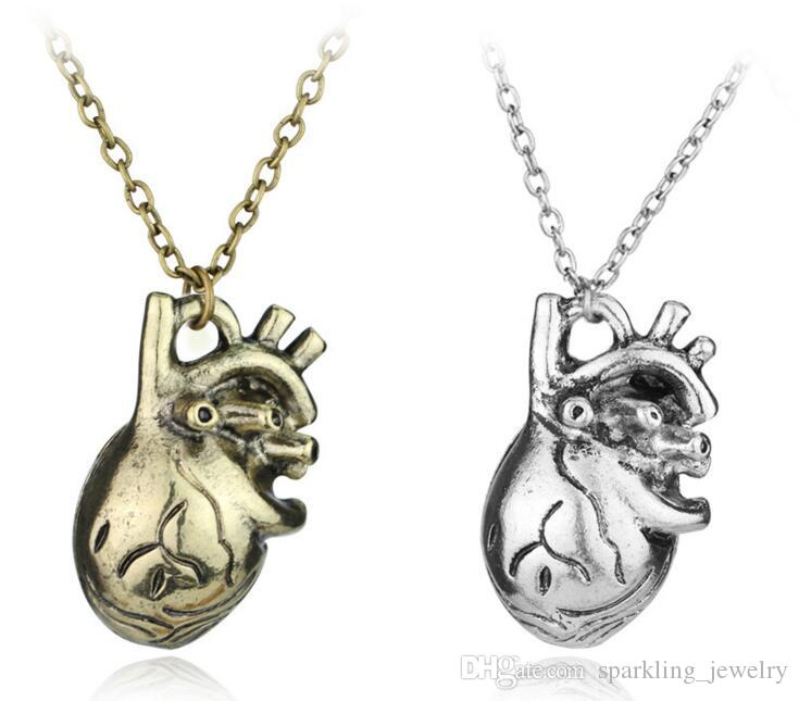 Wholesale Fashion Anatomical Heart Pendant Necklace For Women ...