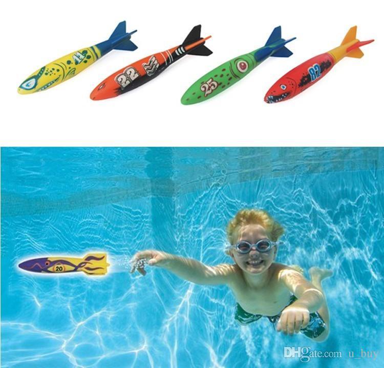 2016 Summber Su Oyuncaklar Sualtı Torpedo Roket Yüzme Havuzu Oyuncak Yüzmek Dalış Torpedo Atma Oyuncaklar Çocuklar Için En Iyi Hediyeler