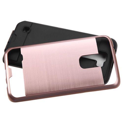 For LG Tribute HD X Power Tempo N9131 N9136 K7 Stylo 2 Samsung On5 J7 J3 Cheap Brushed Metal Polish Hybrid Armor Case