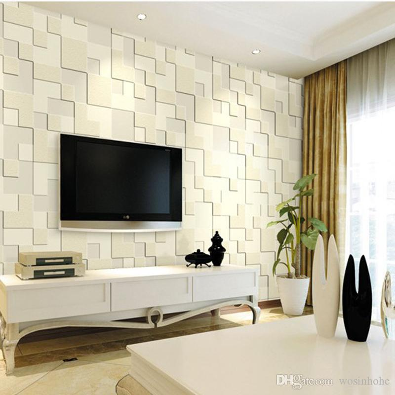 Beibehang modern home decor 3d wallpaper bedroom living room tv background mosaic wallpaper for walls 3 d papel de parede popular wallpapers quality