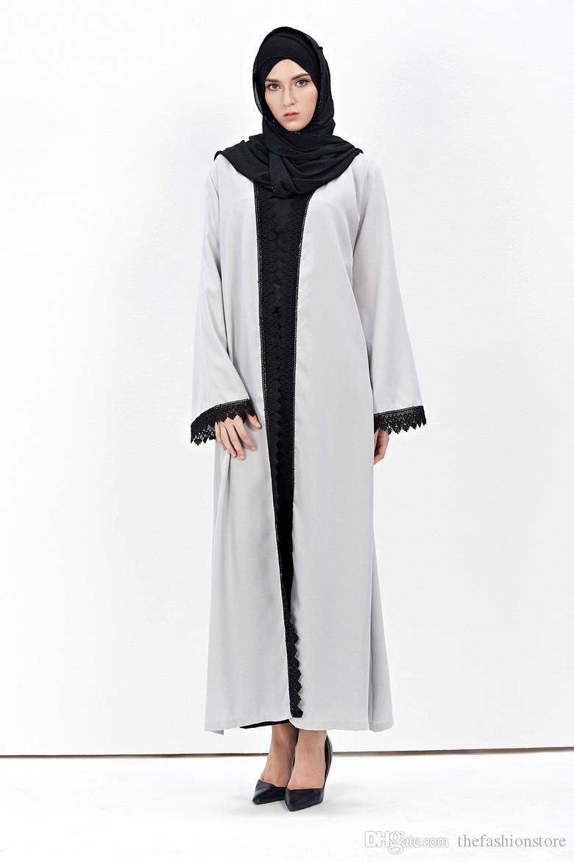 2016 neue Ankunft Islamischen Schwarz Mantel Abayas
