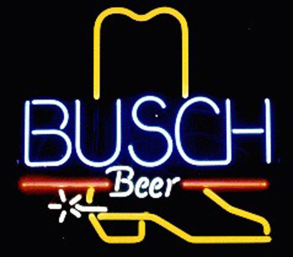 Busch Beer Cowboy Boot Neon Sign Custom Handmade Real Glass Tube Store Beer  Bar KTV Club Pub Advertising Display Neon Signs 19 x19