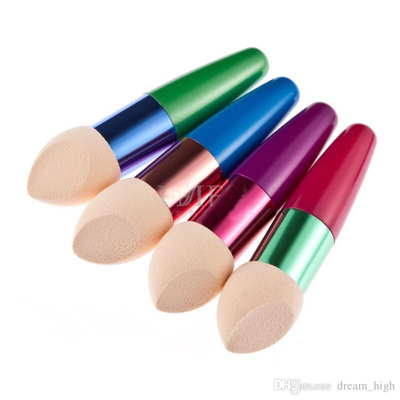 Beauty NON LATEX COTTON Cosmetic Brushes Liquid Cream Powder Foundation Concealer Sponge Lollipop Brush Makeup Tools DHL Factory