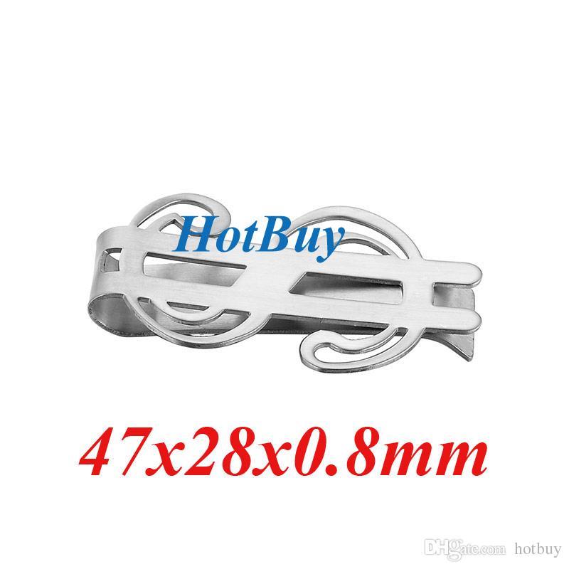 8 Styles Stainless Steel Silver Slim Pocket Money Clip Wallet Cash ID Credit Card Money Holder Metal Steel Bill Clip Clamp #3967