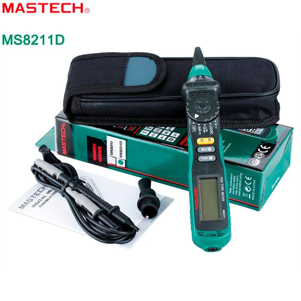 2018 Mastech Ms8211d Digital Multimeter Pen Type Meter Auto Range ...