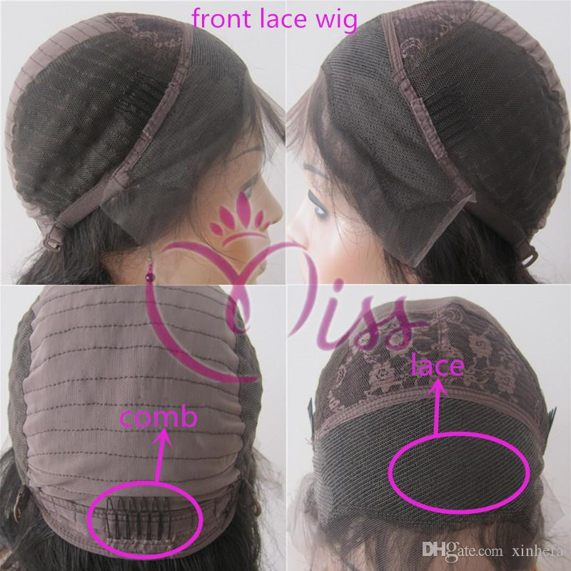 Hot Selling Full Lace Front Human Hair Wigs For Black Women Brazilian straight Full Lace Wig Bleached Knots Cheap Human Hair Wigs