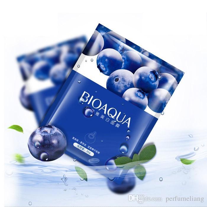 BIOAQUA Blueberry Silk Whitening Facial Mask for Female/Male Winter Moisturizing Nourishing Remove Acne Blackhead Shrink Pores