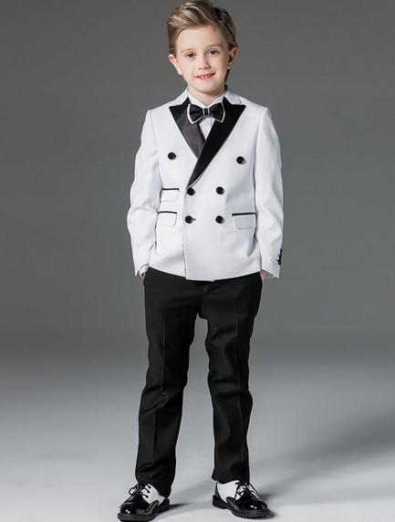 Custom size New Kid's formal wadding dress groom tuxedos flower boys children rom party suits