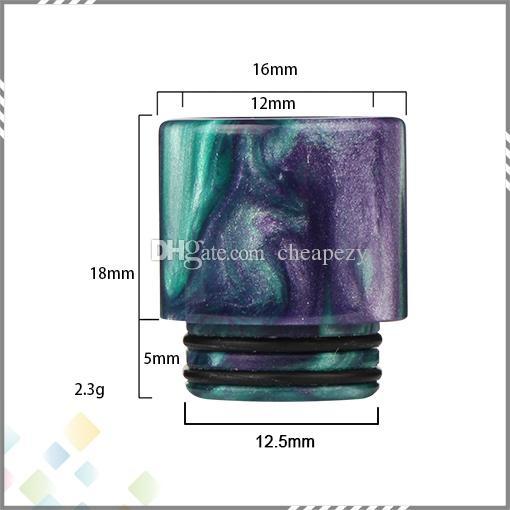 810 punte di gocciolamento resina epossidica TFV8 atomizzatore serbatoio nuvola bestia atomizzatori 810 boccaglio di vape ecig con imballaggio acrilico DHL LIBERA