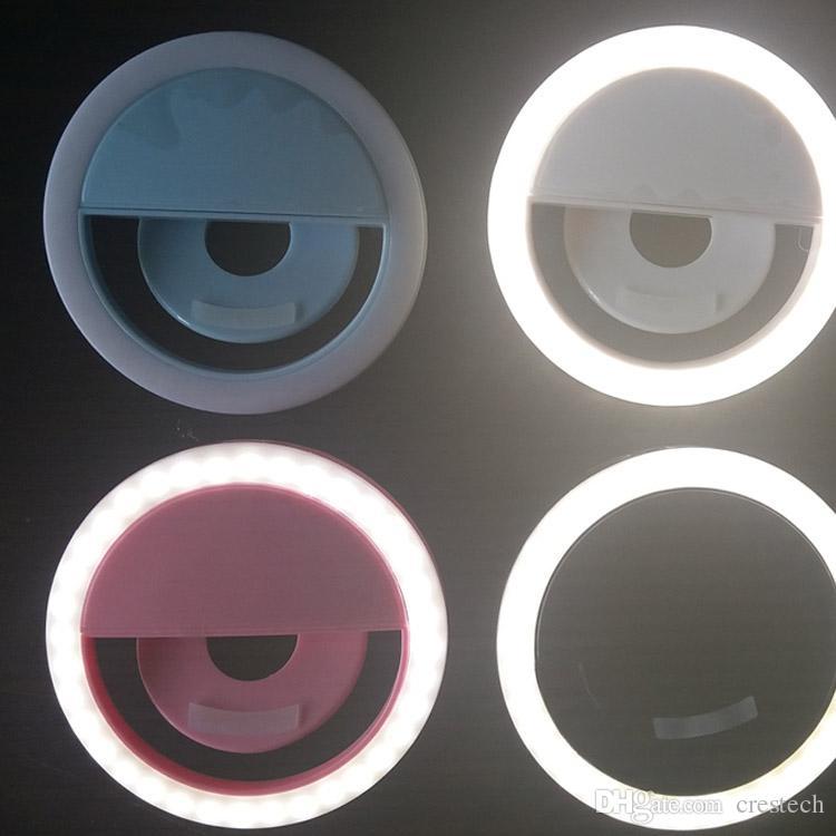 الصمام الدائري صورة شخصية ضوء USB حلقات قابلة للشحن ملء ضوء الإضاءة التكميلية كاميرا التصوير الفوتوغرافي بطارية AAA الهواتف النقالة الذكية